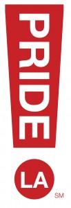 LA PRIDE logo with LA